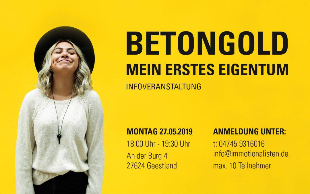 BETONGOLD – ERSTES EIGENTUM